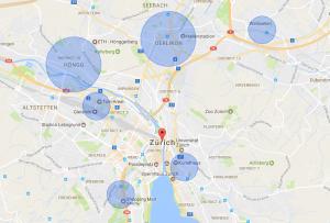 Geo-Fencing Beispiel Zürich