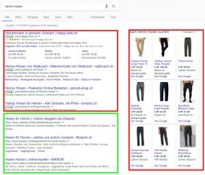 Google Suchergebnisse Organisch Anzeigen Shopping
