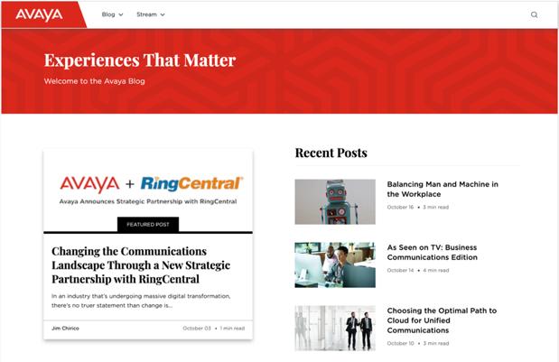 Unternehmensblog von Avaya