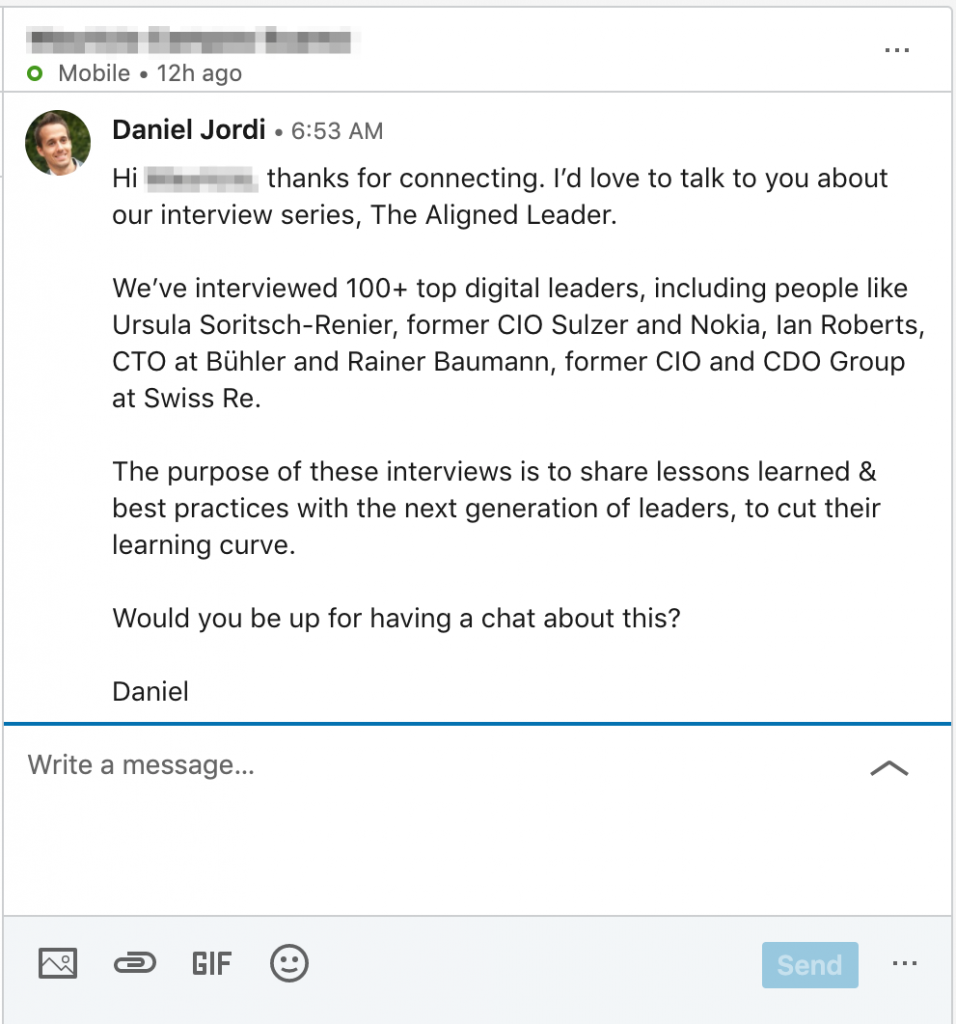 LinkedIn Outreach: Alternative to Meeting at Events 2