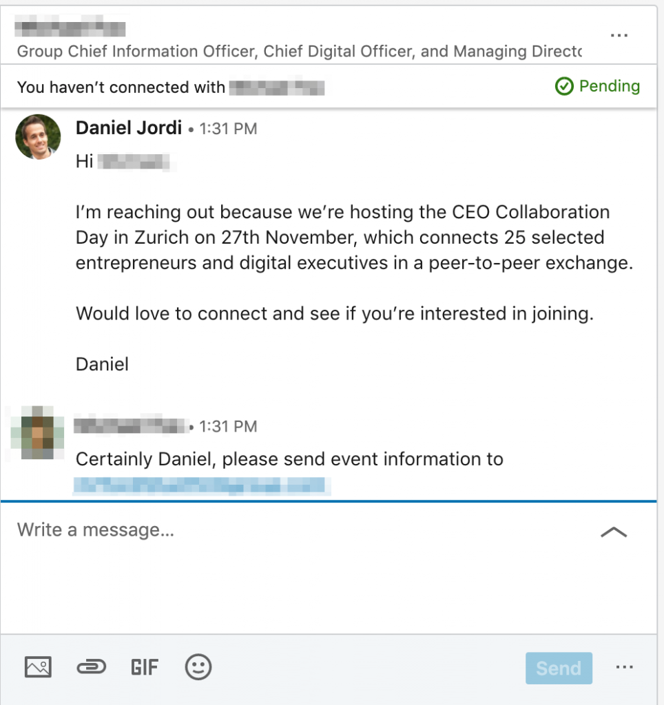 LinkedIn Outreach: Alternative to Meeting at Events 1