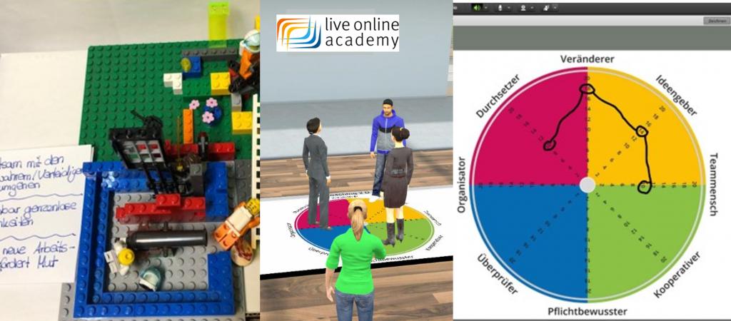 Ausschnitte aus LEGO®SeriousPlay® online Workshop