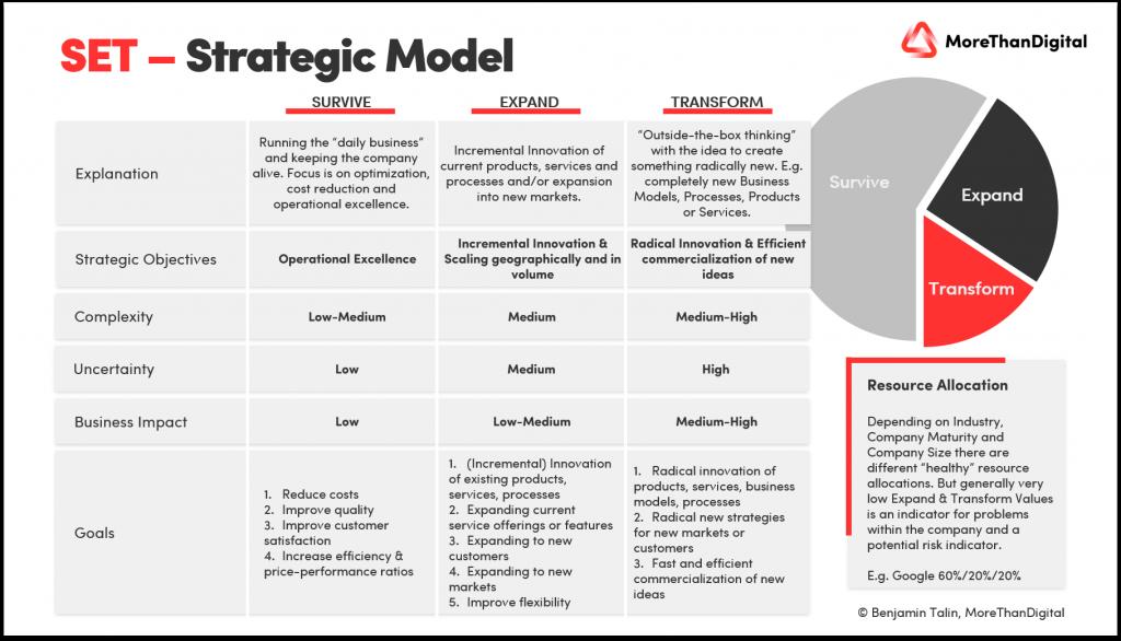 SET Model for Strategic Resource Allocation explained